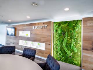 Mosswall ebcont:  Bürogebäude von KREOS GmbH&Co.KG