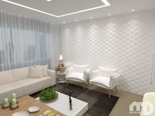 Sala |Apartamento MG| Salas de estar modernas por Mateus Dias Arquitetura Moderno