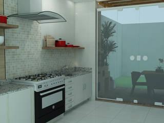 Área de lazer - Reforma: Cozinhas  por Alessandra Rabesco,Clássico