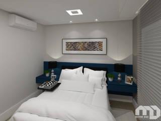 Suíte |Apartamento MG| Quartos modernos por Mateus Dias Arquitetura Moderno