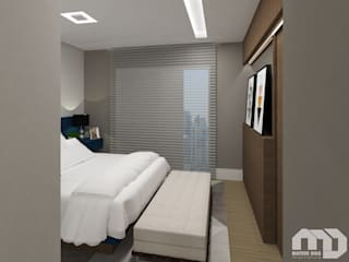 Modern style bedroom by Mateus Dias Arquitetura Modern