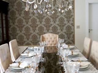 Residência : Salas de jantar  por Escritório Silvana Caporal