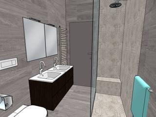 Bagno con doccia filo pavimento Bagno moderno di INTERNO 75 Moderno