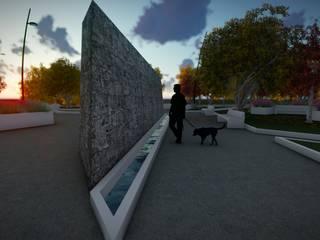 Plaza Guaymallén:  de estilo  por Mora Arquitectura y Diseño