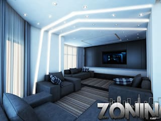 Living room by Zoning Architects, Modern