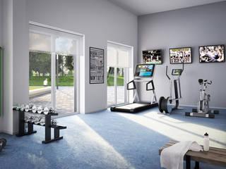 minimalistic Gym by JLL Residential Development