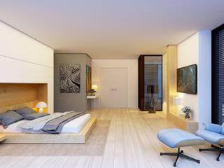 Интерьер спальни Спальня в стиле минимализм от Аnna Knysh Минимализм