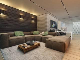 Кабинет в частном доме Рабочий кабинет в стиле минимализм от Аnna Knysh Минимализм