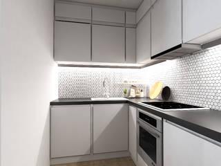 Minimalistyczna kuchnia: styl , w kategorii  zaprojektowany przez Modeco Creative Studio