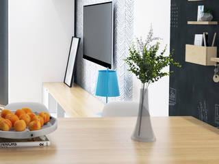 Salon w stylu skandynawskim: styl , w kategorii  zaprojektowany przez Modeco Creative Studio