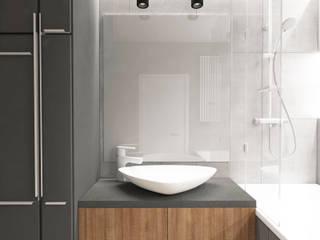 Industrialna łazienka: styl , w kategorii  zaprojektowany przez Modeco Creative Studio