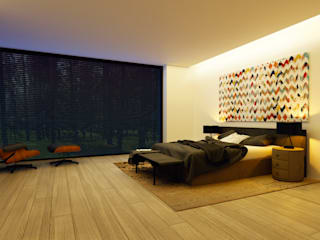 Интерьеры спален Спальня в стиле минимализм от Аnna Knysh Минимализм