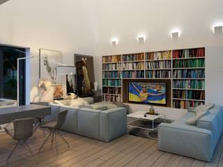 Интерьер загородного дома Гостиная в стиле минимализм от Аnna Knysh Минимализм