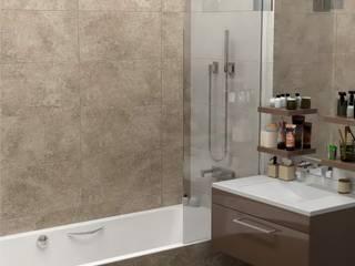 Дизайн проект квартиры в ЖК Кантемировский: Ванные комнаты в . Автор – ИнтекСтрой