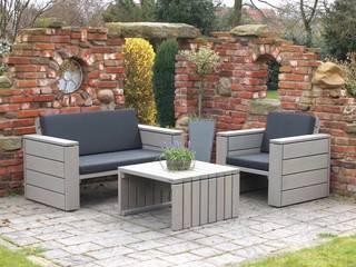 Loungemöbel Set 1 Holz, Oberfläche: Transparent Grau, inkl. Polster:   von binnen-Markt