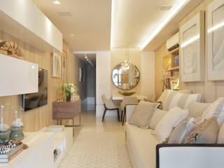 APARTAMENTO LEBLON Salas de estar modernas por Lana Rocha Interiores Moderno