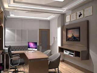 : Estudios y despachos de estilo moderno por ecoexteriores