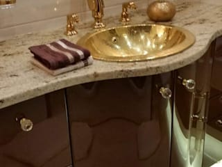 Cerames Tropical style bathrooms Amber/Gold