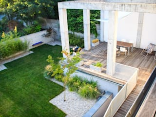 Ogród z betonem od Studio B architektura krajobrazu Bogumiła Bulga