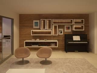 Wohnzimmer von daniela kuhn arquitetura