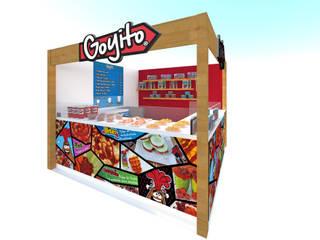 Stand Comercial Goyito:  de estilo  por MJ Arquitectura e Interiorismo