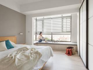 Dormitorios de estilo  de 寓子設計, Escandinavo