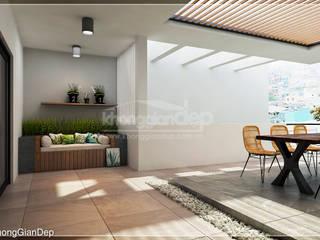 ระเบียง, นอกชาน by Công ty cổ phần đầu tư xây dựng Không Gian Đẹp