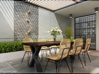 Công ty cổ phần đầu tư xây dựng Không Gian Đẹp Balcones y terrazas modernos Marrón