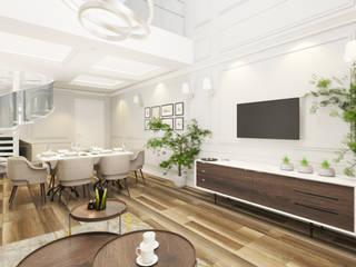 Modern living room by Công ty trách nhiệm hữu hạn ANP Modern
