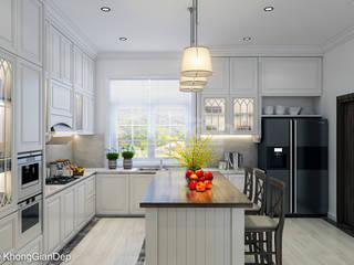 Công ty cổ phần đầu tư xây dựng Không Gian Đẹp Scandinavian style kitchen White
