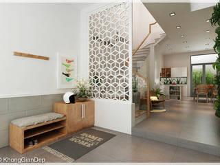 Коридор, прихожая и лестница в рустикальном стиле от Công ty cổ phần đầu tư xây dựng Không Gian Đẹp Рустикальный