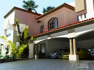 Estacionamiento: Casas de estilo ecléctico por gciEntorno