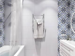 Готовый интерьер под ключ в скандинавском стиле: Ванные комнаты в . Автор – Tim&Team,