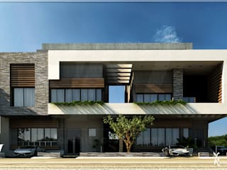Villa exterior with Light modern style: modern  by VAVarchitecture, Modern