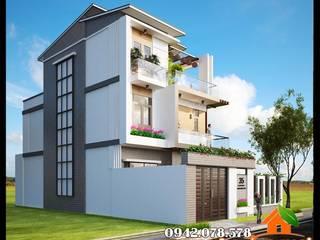 Màu sắc trang trí sắc sảo, đường nét nỗi bật, xinh xắn bởi Công ty TNHH TKXD Nhà Đẹp Mới Châu Á