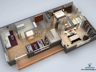 Architectural 3D Floor Plan Services by 3DFUSIONEDGE