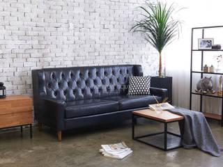 빈티지 인테리어 - Smukke(스무크) PU sofa: 한나하우스의
