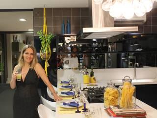 Primeira Mostra Evviva 2016 Espaços gastronômicos modernos por Lúcia Vale Interiores Moderno