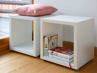 Cube Shelves Salas de estar modernas por Regalraum UK Moderno