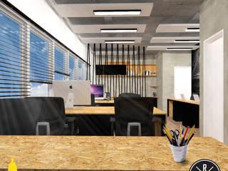 Projeto de Interiores: Espaços comerciais  por Bruno Ribeiro Arquitetura,Industrial