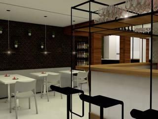 CÔTE 609 COMEDORIA & LOUNGE Espaços gastronômicos modernos por Livin Arquitetos Moderno