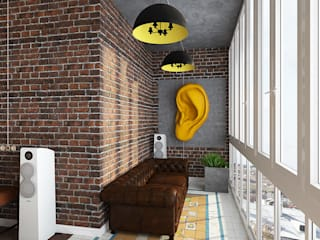 Спальня Спальня в стиле лофт от Diveev_studio#ZI Лофт