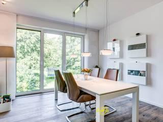 Lichtplanung innerhalb eines Dachgeschossausbaus Lichtja Licht und mehr GmbH Moderne Esszimmer Weiß