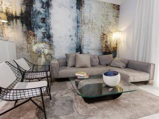 Projecto Sala: Salas de estar  por MY STUDIO HOME - Design de Interiores