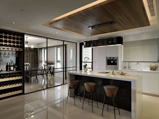 從容 現代廚房設計點子、靈感&圖片 根據 楊允幀空間設計 現代風