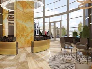Artichok Design Commercial Spaces Marble Amber/Gold