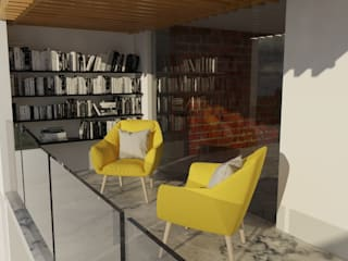 Balcones y terrazas de estilo minimalista de [GM+] Arquitectos Minimalista