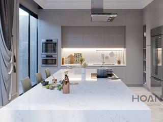 Salas de jantar modernas por Thương hiệu Nội Thất Hoàn Mỹ Moderno
