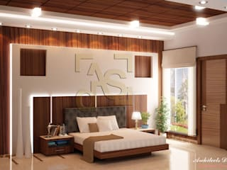 Chambre de style  par Architects Design Studio  Architects and Interior Designers in Delhi