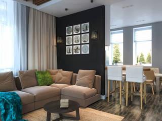 Дизайн-проект для таунхауса в КП Марсель, 120 кв. м.: Гостиная в . Автор – Loft&Home